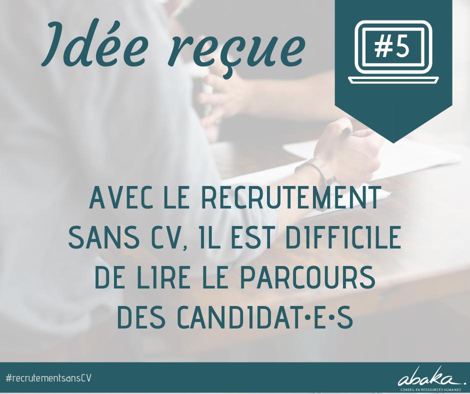 Recrutement sans CV #5